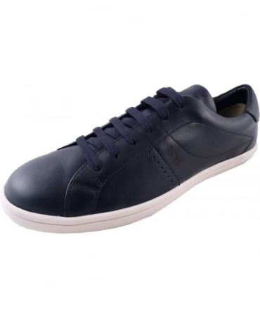 'Souta' Dark Blue Leather trainers