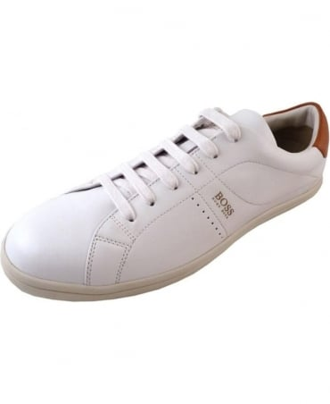 'Souta' White Leather Trainers