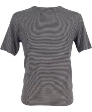 Armani Striped T-shirt In Black/Grey