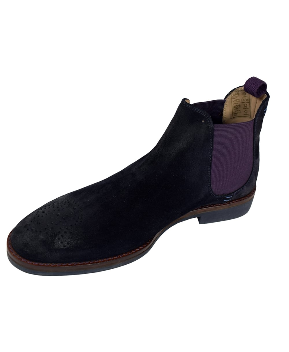 oliver sweeney suede 39 burrows 39 chelsea boots in navy oliver sweeney. Black Bedroom Furniture Sets. Home Design Ideas