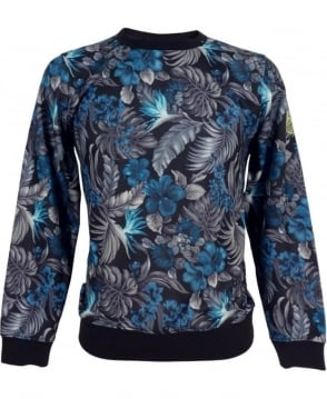Replay Sweatshirt With Hibiscus Floral Print