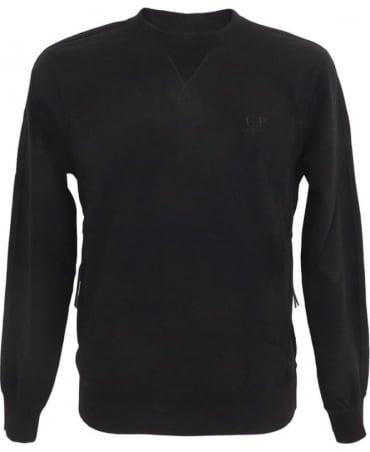 CP Company Sweatshirt With Kangaroo Pocket In Black