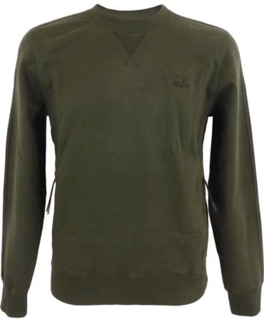 CP Company Sweatshirt With Kangaroo Pocket In Green