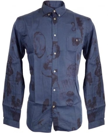 Paul Smith - Jeans Tailored Fit Ecru Psychedelic Gems Print Shirt