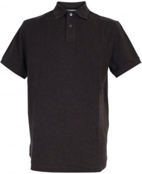 Hackett Tailored Logo Polo Shirt In Charcoal