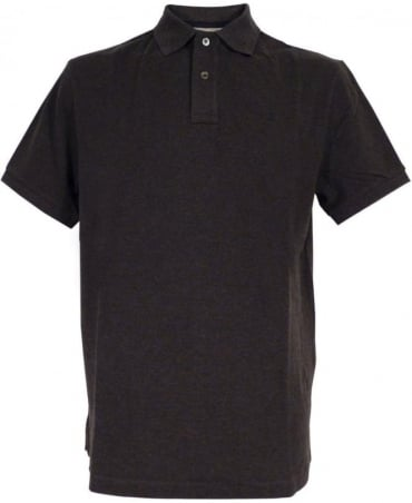 Tailored Logo Polo Shirt In Charcoal