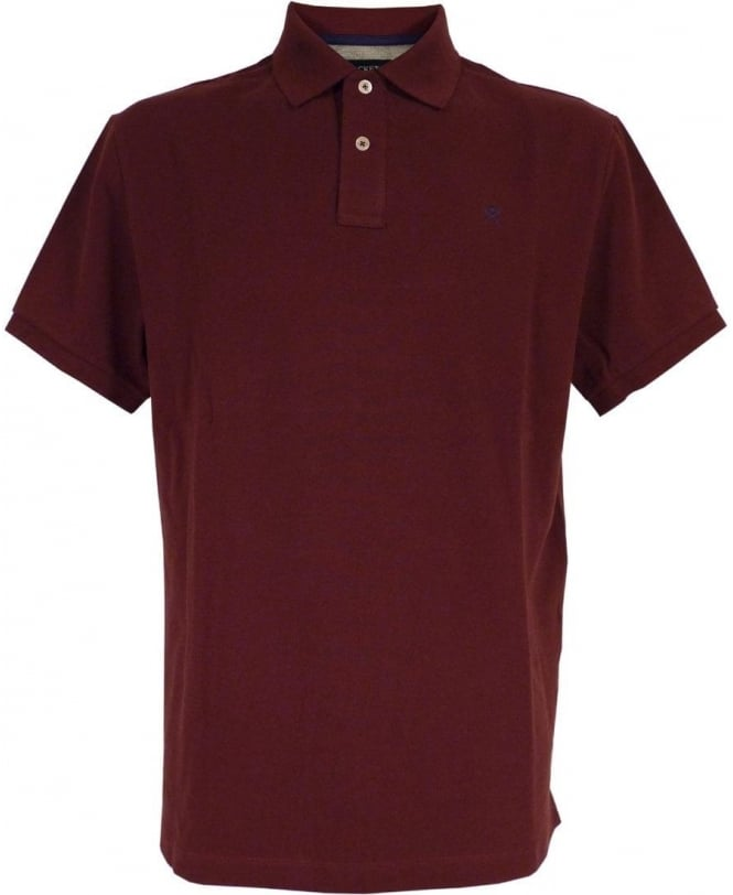 Hackett Tailored Logo Polo Shirt In Wine