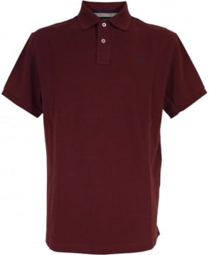 Hackett Tailored Logo Polo Shirt In Wine
