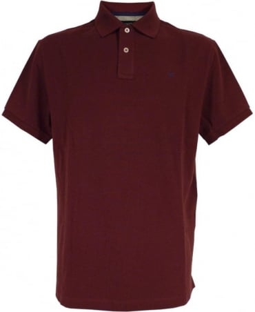 Tailored Logo Polo Shirt In Wine