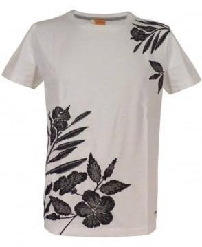 Hugo Boss 'Tamarix - H' Embroidered T-shirt In White