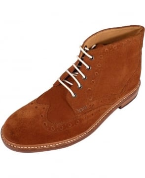 Oliver Sweeney Tan Benhall Suede Brogue Boots