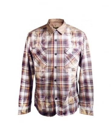 PRPS Tan Check Bellow Shirt