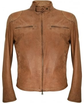 Matchless  Tan 'Osborne Vent' Leather Blouson