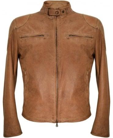 Matchless  Tan 'Osborne Vent' Leather Blouson