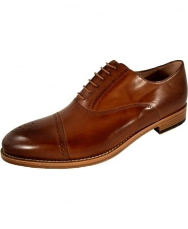 Paul Smith  Tan Semi-Brogue 'Berty' Shoes