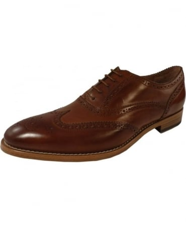Tan SRPC-S010-PAR-P13 'Christo' Brogue Shoe
