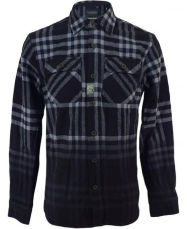 Scotch & Soda Tartan Pattern Oversized Flannel Shirt