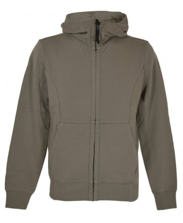 CP Company Taupe 03CMSS052A Hooded Goggle Sweatshirt