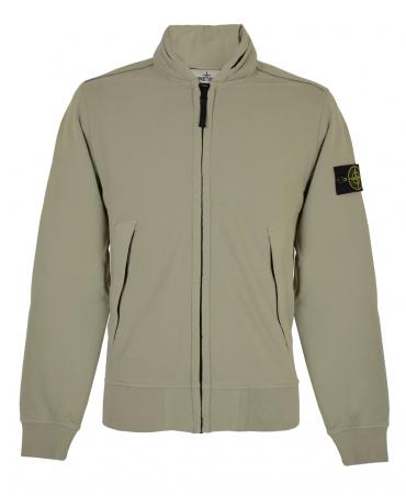 Stone Island Taupe 63020 Concealed Hood Sweatshirt