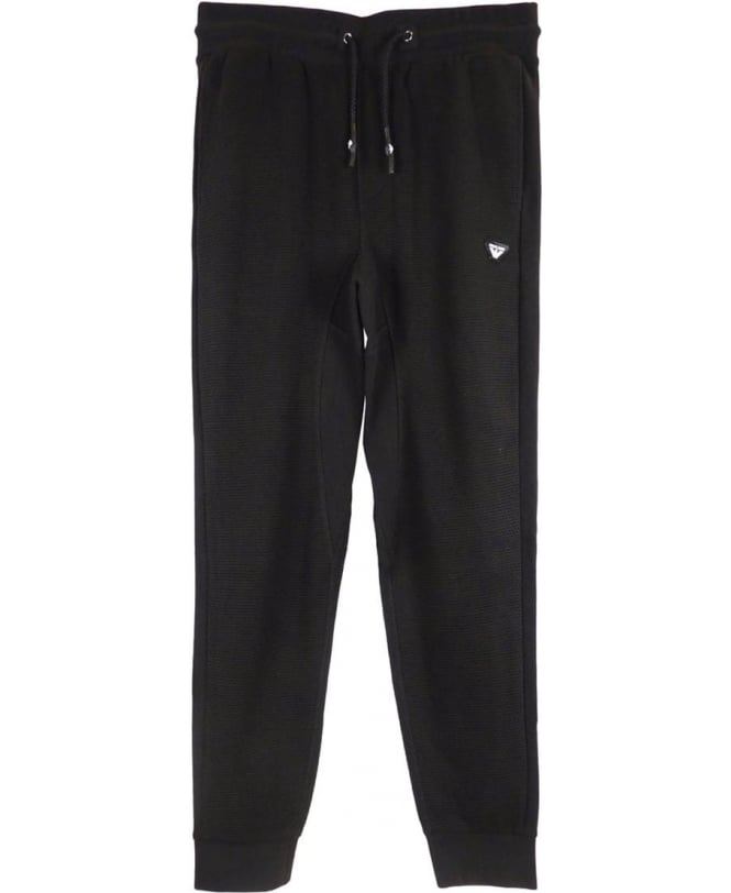 fresh styles website for discount best authentic Armani Jeans Textured Mesh Tracksuit Bottoms In Black