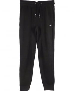 Armani Textured Mesh Tracksuit Bottoms In Black