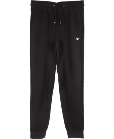 Armani Jeans Textured Mesh Tracksuit Bottoms In Black