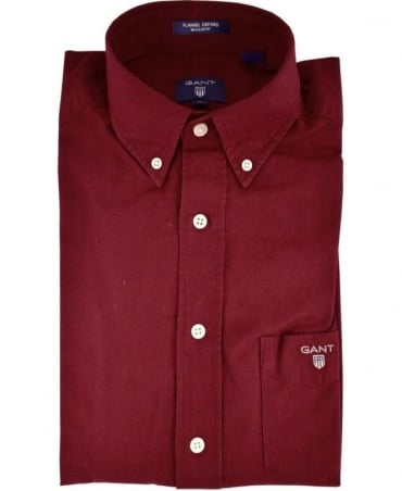 Thunder Red Button Down Collar Shirt