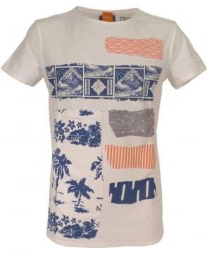 Hugo Boss 'Tilius 3' Slub Yarn T-shirt In White