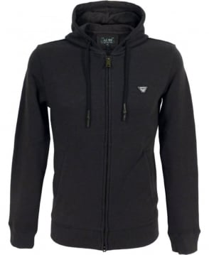 Armani Jeans Tracksuit Hooded Sweatshirt In Black