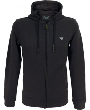 Armani Tracksuit Hooded Sweatshirt In Black