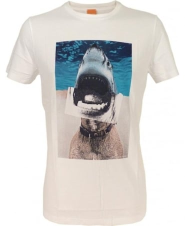 Hugo Boss 'Treyno 1' Printed T-shirt In White