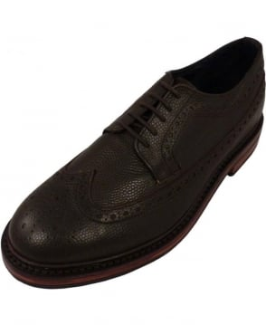 Hackett Tumbled Butler Brogues In Brown