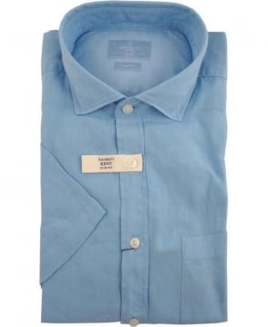 Hackett Turquoise HM304765 Short Sleeve Shirt