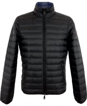 Armani Jeans Ultra Light Down Jacket In Black