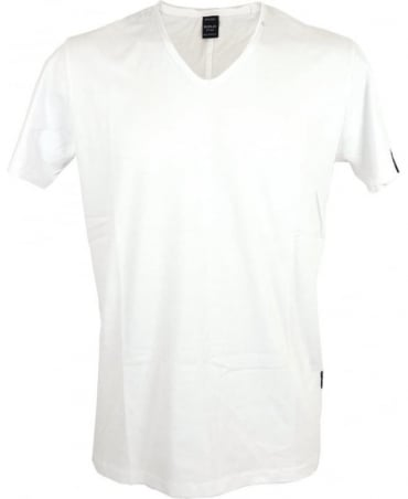 Replay V-neck T-shirt In White