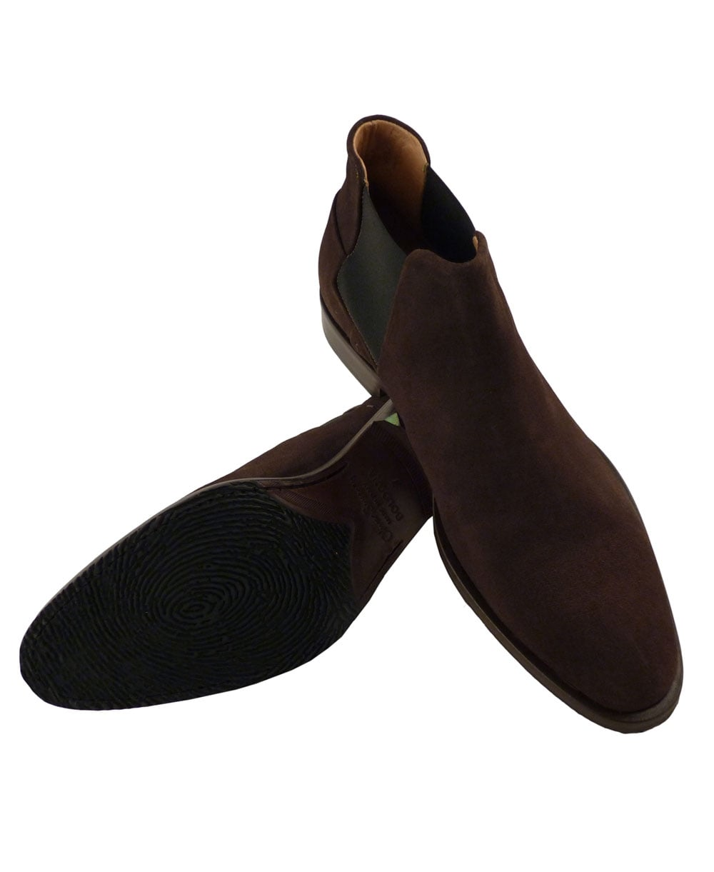 venarotta brown suede chelsea boot