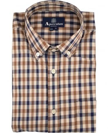 Aquascutum Vicuna Check Short Sleeve Shirt