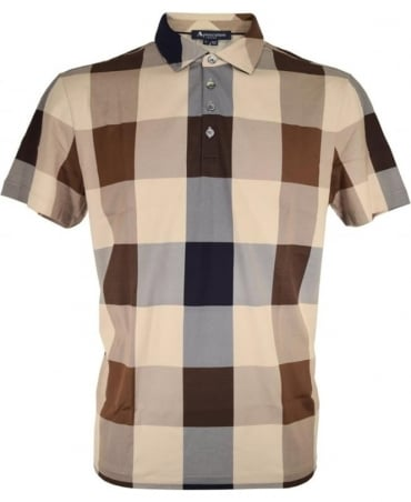 Aquascutum Vicuna Cody Club Check Polo Shirt