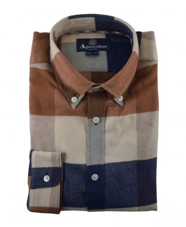 Aquascutum  Vicuna Rigby Flannel Check Shirt