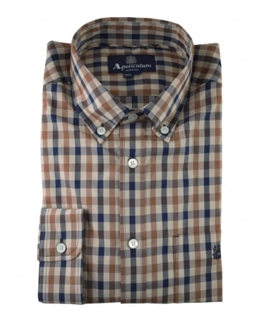 Aquascutum Vicuna York Club Check Shirt