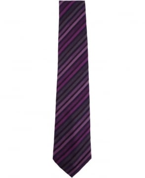 Paul Smith - Accessories Violet ALXA/552M/W26 Diagonal Stripe Tie