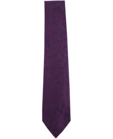 Paul Smith - Accessories Violet ALXA/552M/W62 Floral Silk Tie