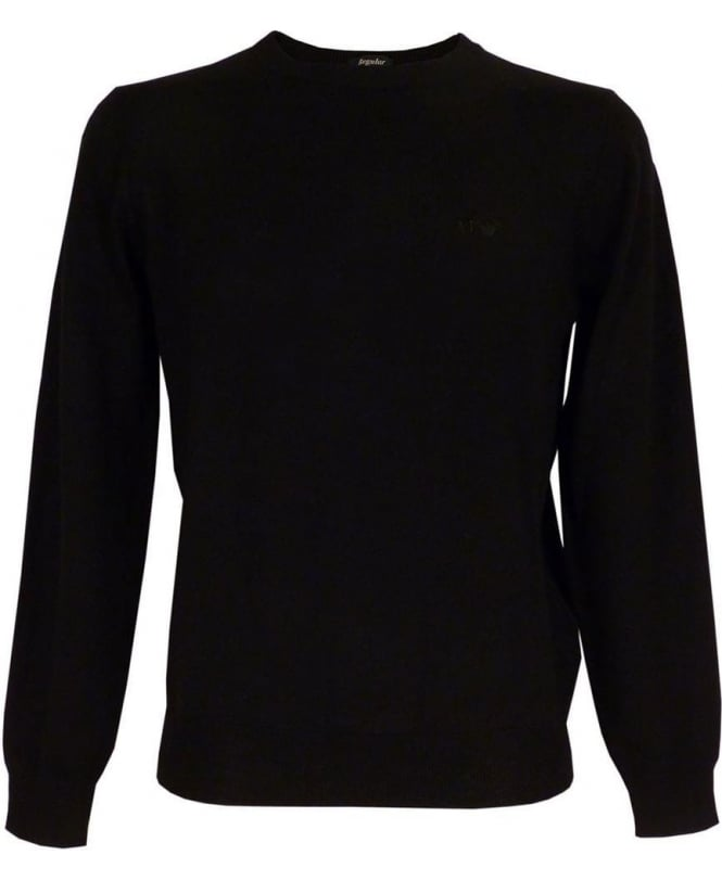 Armani Jeans Virgin Wool Jumper In Black