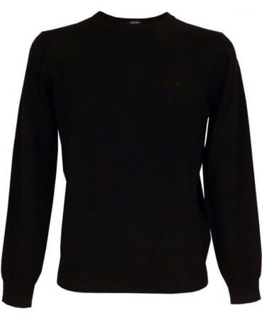 Armani Virgin Wool Jumper In Black