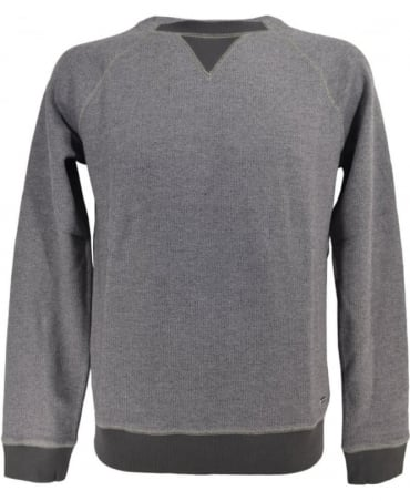 'Warys' Slim Fit Sweater In Mottled Cotton