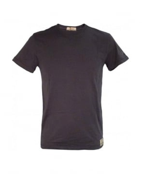 Replay Washed Black Regular Fit T-Shirt