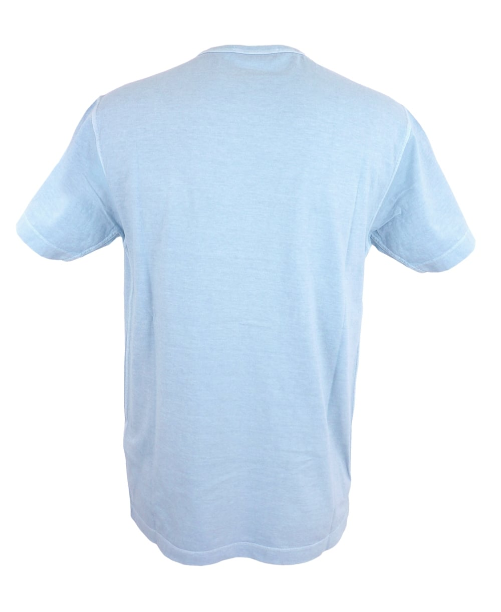 Washed Out Small Patch Logo T Shirt In Light Blue
