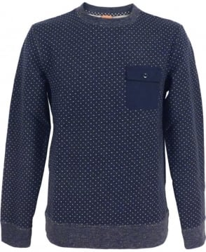 Hugo Boss 'Wealer' Sweatshirt In Navy