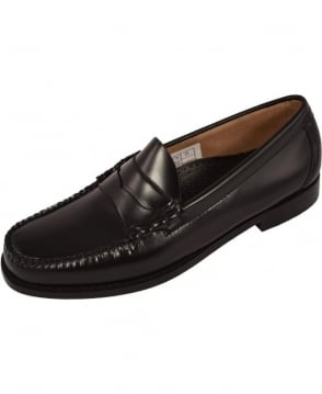 G.H. Bass & Co Weejuns Black Larson Moc Penny Pull Up Loafers