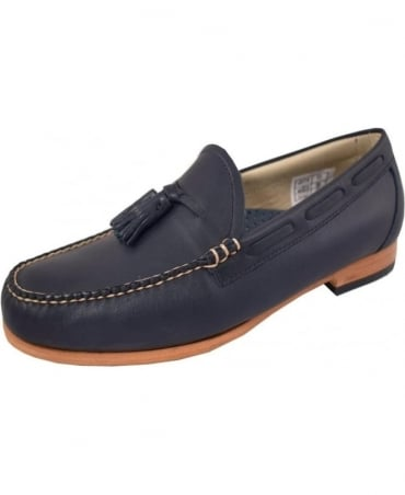 G.H. Bass & Co Weejuns Navy Larkin Tassel Loafers
